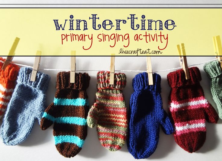SINGING TIME IDEA: this is a really fun activity to play in primary music time during the winter months. the kids love leading the music while wearing their favorite mitten!
