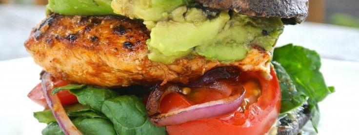 Porto Bello Chicken Burger