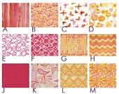 Lush Tropical FLOWERS  - Custom Crib Bedding Set - Blanket, Fitted Sheet, Crib Skirt - Orange, Pink, Purple, Green, Aqua Blue. $185.00, via Etsy.