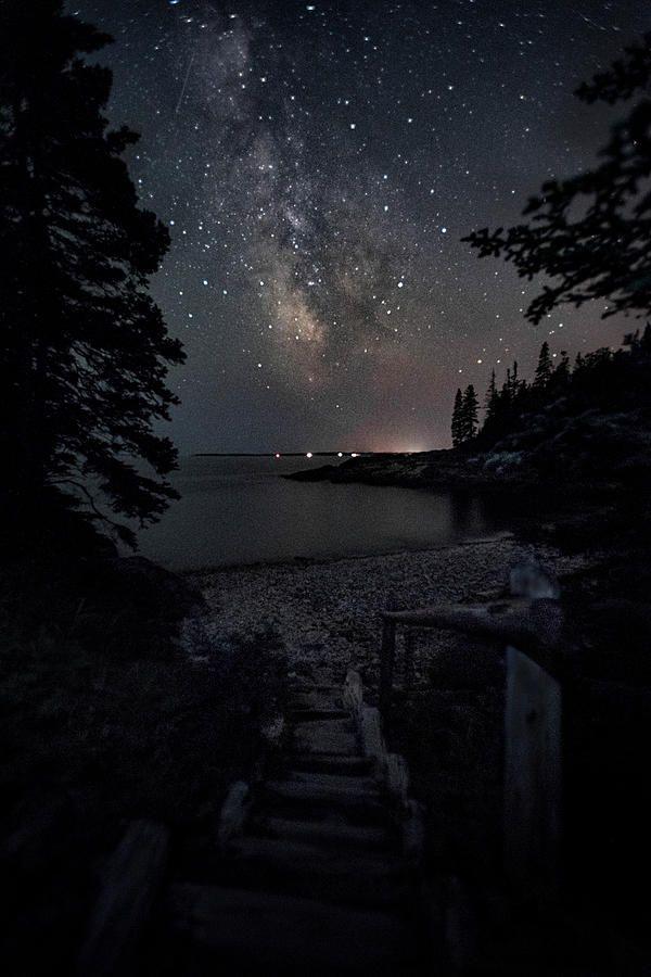 Maine Photograph Step Into Darkness By Robert Fawcett Night Scenery Beautiful Night Sky Night Sky Photography