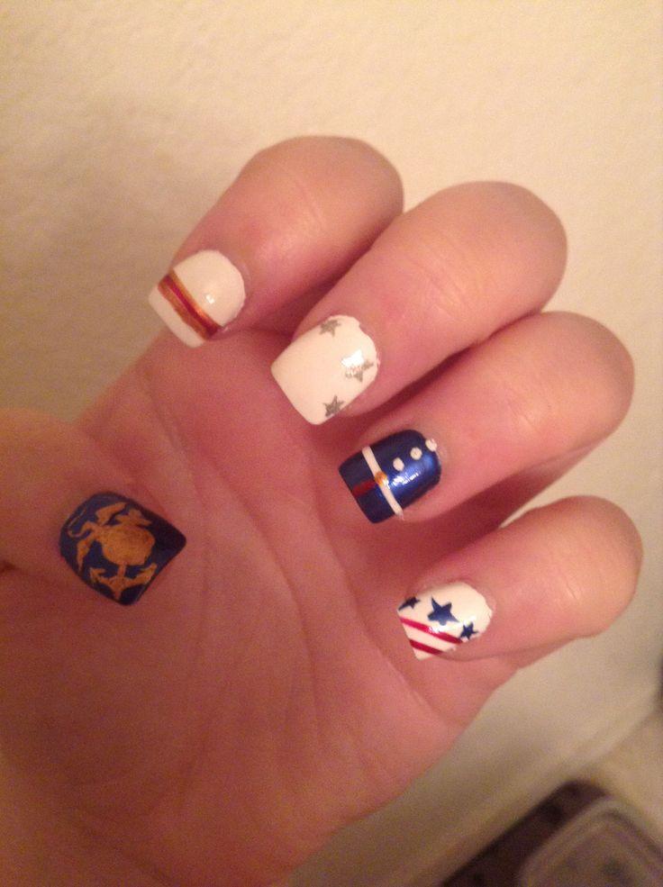 7 best usmc nail art images on Pinterest | Usmc nails, Marine nails ...
