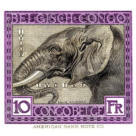 Antique 1923 Belgian Congo Elephant Postage Stamp on CafePress.com: