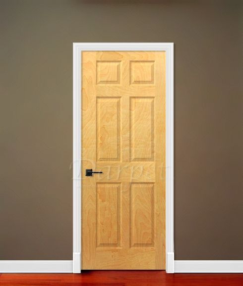 6 panel white birch 6 39 8 80 darpet interior doors for Darpet