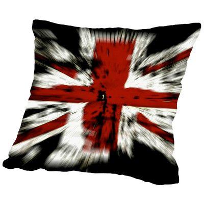 East Urban Home United Kingdom Flag Throw Pillow Size: