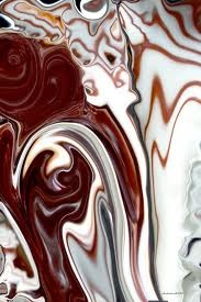 Melted Chocolate Art