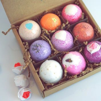 Launch this one in the water and watch it shoot and spin. With 6 different scents infused with Dead Sea Salt, Shea Butter and Essential Oils, this Bath Bomb Set takes you-time to a whole new level of
