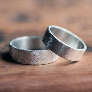 Modern silver artisan wedding bands-modern wedding band set, modern wedding ring, textured wedding ring, rustic wedding band, silver band, silver ring, sterling silver wedding ring