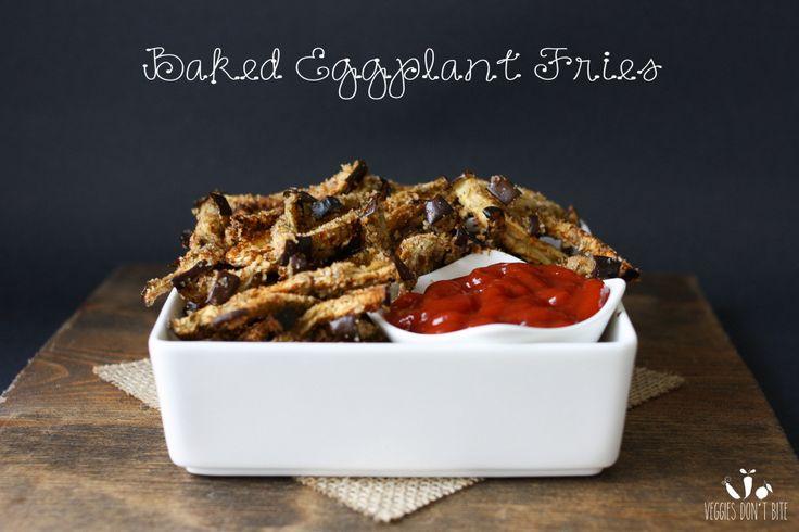 Eggplant fries | www.veggiesdontbite.com | #vegan #plantbased #glutenfree