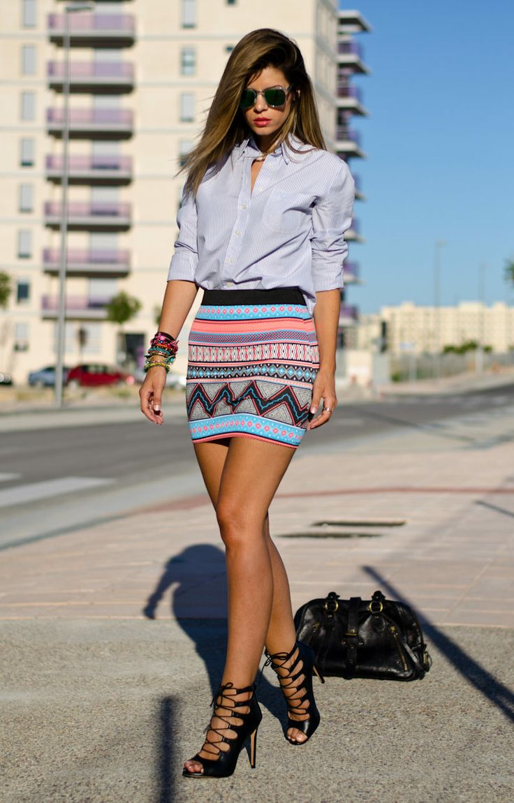 Textures Mix ( Shirts & Blouses & Graphic Skirts )