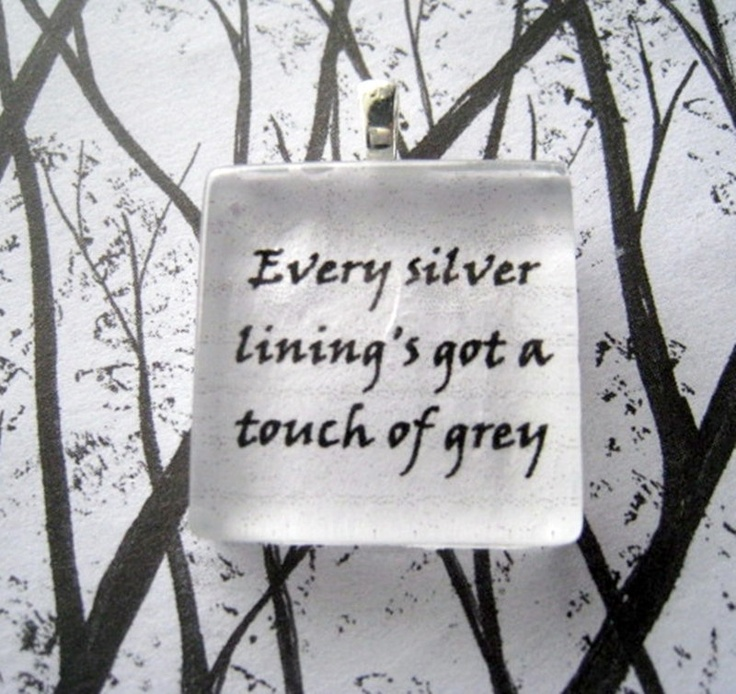 Grateful Dead Touch Of Grey Glass Tile Pendant by lyricallady,