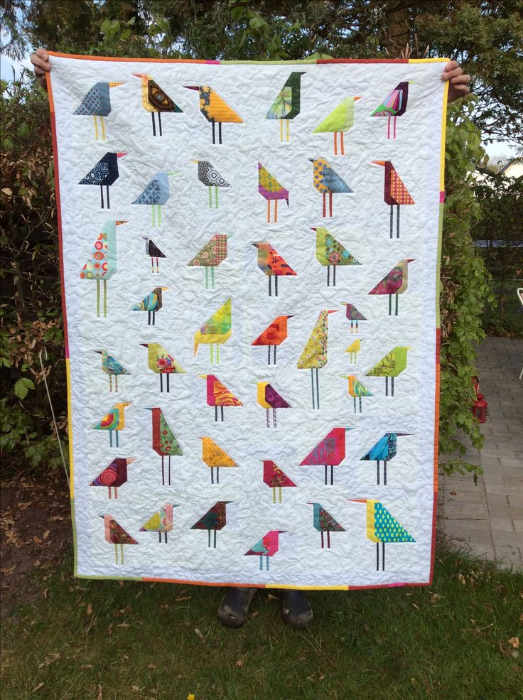 Birds quilt for a relative. Inspiration found here at Pinterest