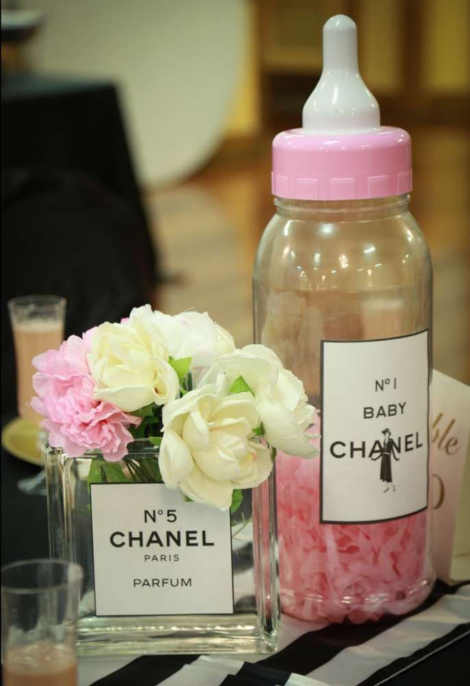 coco chanel baby shower party ideas