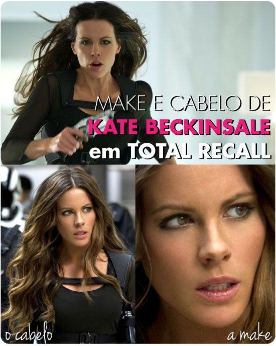Kate Beckinsale, make, cabelo, hair, maquiagem, Total Recall, O Vingador do Futuro, Filme, foto, sombra, olho, esfumado, cinza, ondulado