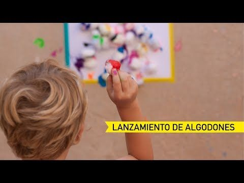 Pintar con algodones. Actividad creativa para peques. - AEIOUTURURU | Talleres creativos para peques