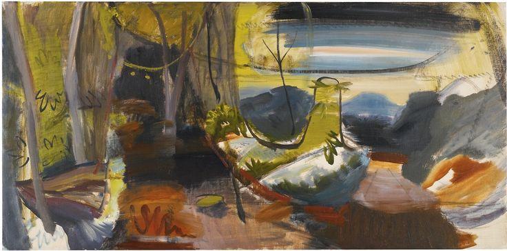 Ivon Hitchens (British, 1893-1979), Autumn Woods. Oil on canvas, 20 x 41 in.