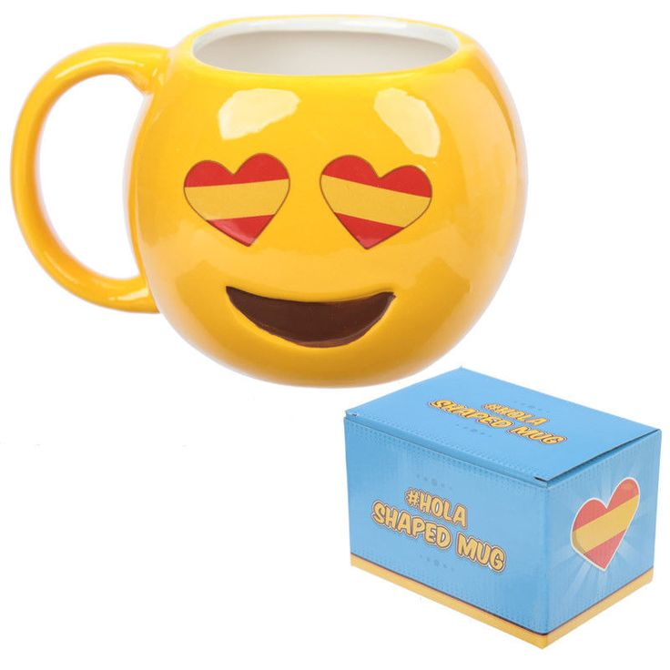 Cup Fun Collectable Ceramic Spanish Flag Eyes Emotive Mug Gift Ideas