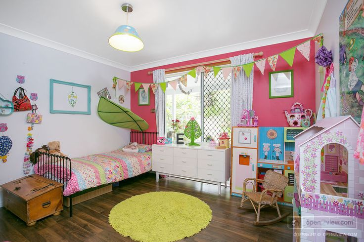 Perfect accessories deck out this little girl's room.