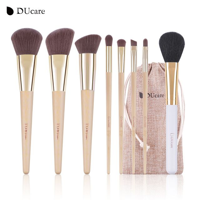 Deals $10.70, Buy DUcare Makeup Brushes  8pcs Bamboo Foundation Eyeshadow Concealer Eyeliner Brushes Cosmetic kwasten make up