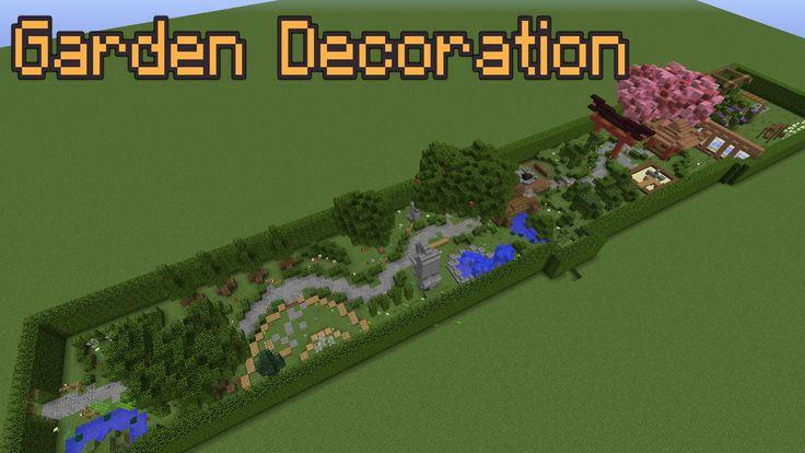 Minecraft Garden Decoration Ideas! | Minecraft garden ...