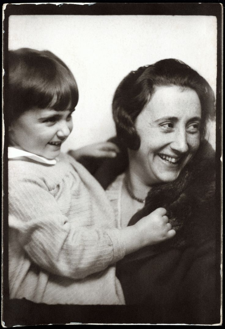"""Anne Frank, with her mother, Edith, circa 1932-33"""