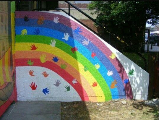 58 best images about duvar boyama on pinterest hallway for Elementary school mural ideas