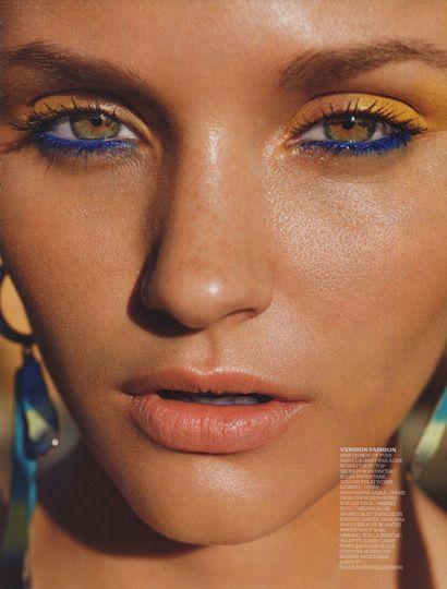 blue and yellow eye makeup