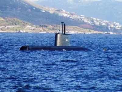 South African Navy Heroine Class submarine SAS Manthatisi (S 101).