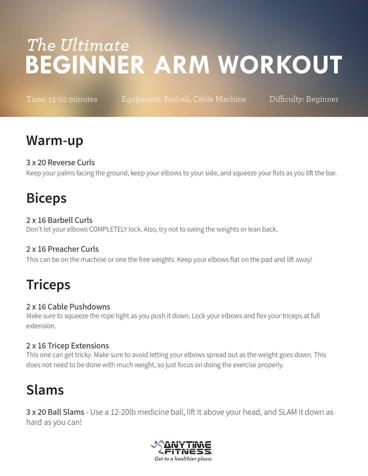 25+ best ideas about Beginner arm workouts on Pinterest ...