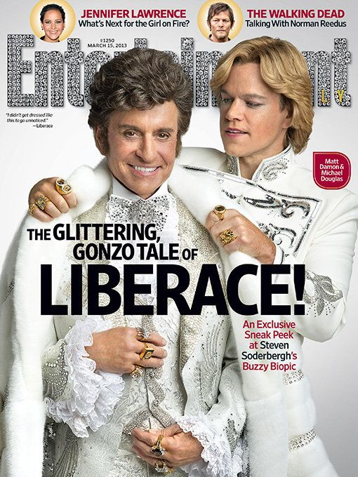 Liberace and lipstick: Matt Damon and Michael Douglas cover Entertainment Weekly covered in makeup - Yahoo! TV