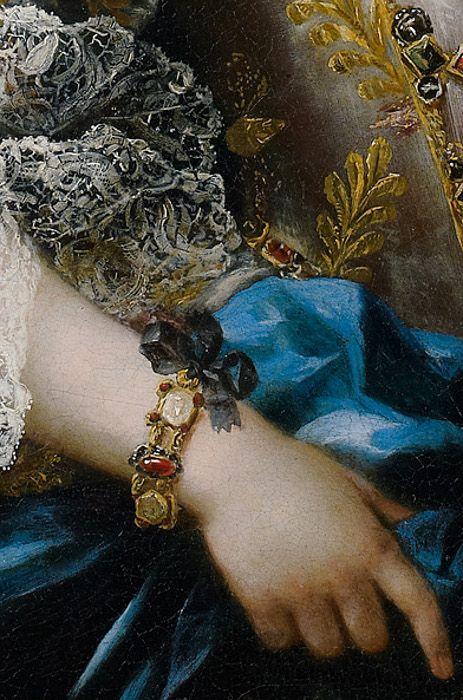 Sebastiano Ceccarini (1703–1783), Portrait of a Lady with a Lapdog, detail