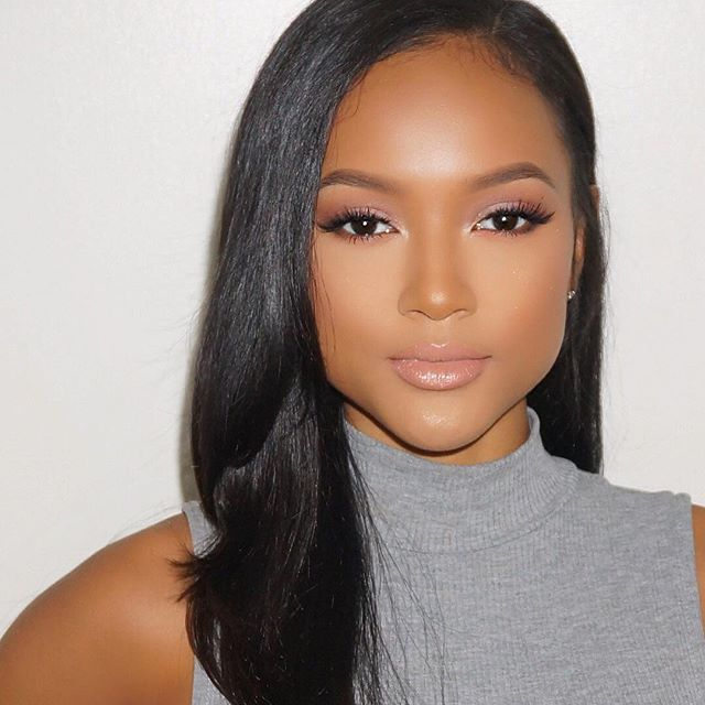 A Touch Of Dusty Rose For Todays Glam On Karrueche Wedding Makeupbridal
