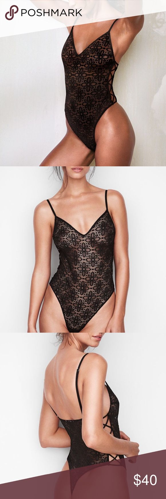 Victoria's Secret lace crisscross bodysuit teddy Size small. New with tags! Offers are always welcome! It never hurts to ask 😊 Please only reasonable offers. Don't forget to bundle & save- it'll save you on shipping as well! 🛍 All items are usually shipped out within one-two business days, USPS Priority Mail, tissue paper packaged, & sealed. Victoria's Secret Intimates & Sleepwear Chemises & Slips