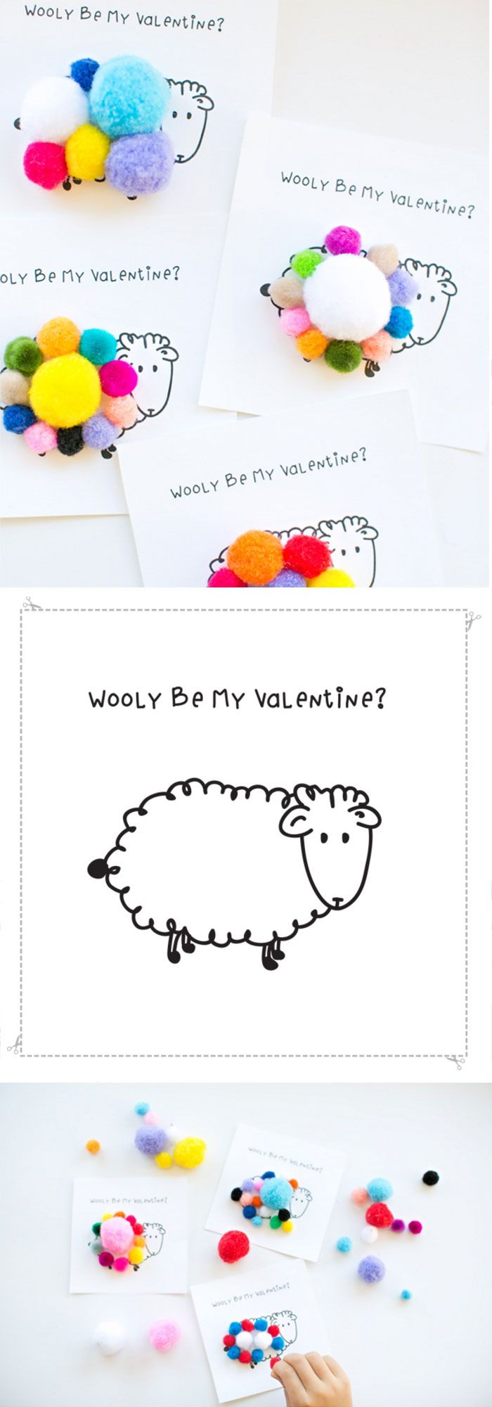 Wooly Be My Valentine | DIY Valentines Cards for Kids to Make | DIY Valentines Ideas for Kids to Make