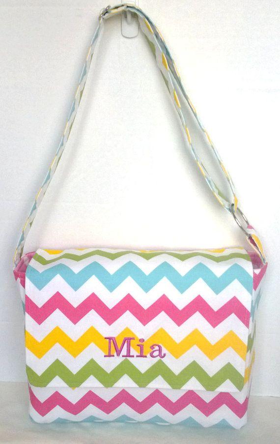 Messenger Bag school bag for kids diaper bag by EBeanDesigns, $50.00