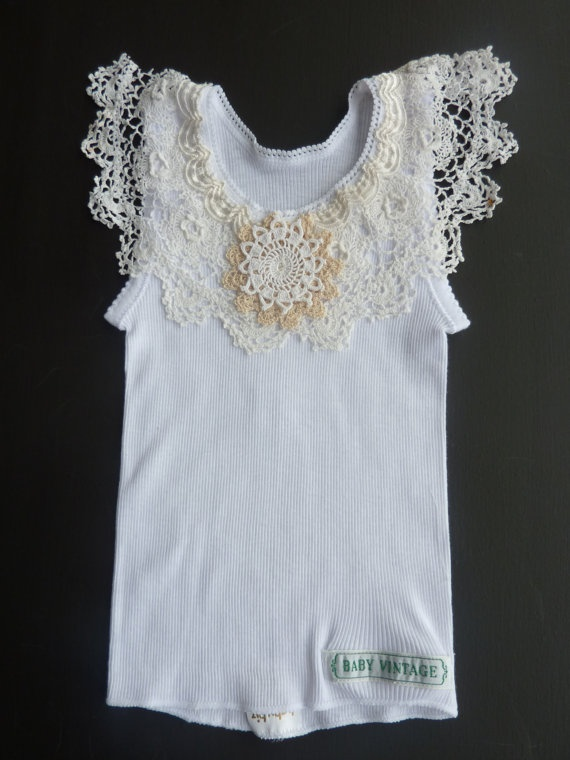 doily singlet- I'm going to give this a go for my girls!