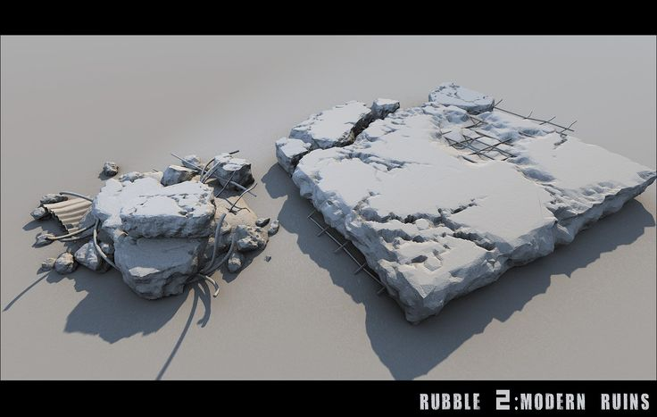 Rubble 2: Modern Ruins | 3D Models and 3D Software by DAZ 3D