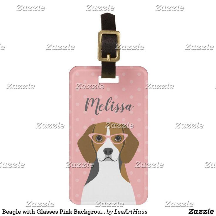 Beagle Luggage Tags Zazzle Com Custom Luggage Tags Pink