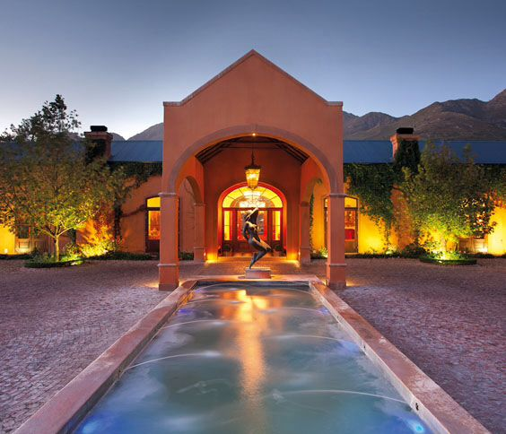 The tranquil vine yards and majestic mountains of the Franschhoek Valley, paint the stunning backdrop to the secluded retreat of La Residence Hotel & Spa. Situated on a private 30 acre working farm, with vine yards, plum orchards, a private dam and fragrant gardens.