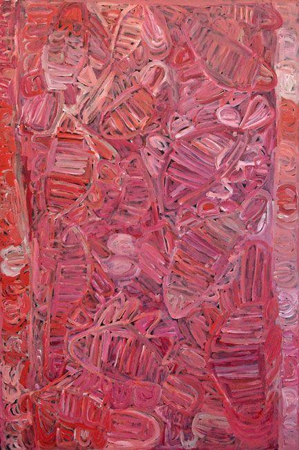 Sonia Kurrara, Martuwarra, Acrylic on canvas, 180 x 120 cm. ReDot Fine Art Gallery, Singapore.