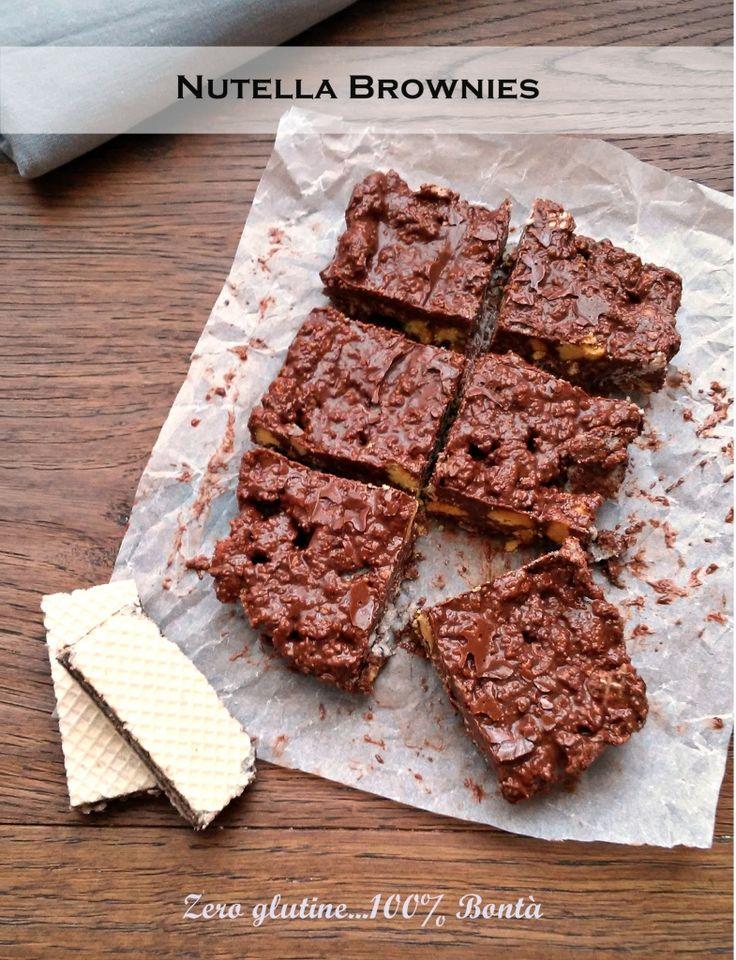Nutella Brownies senza cottura