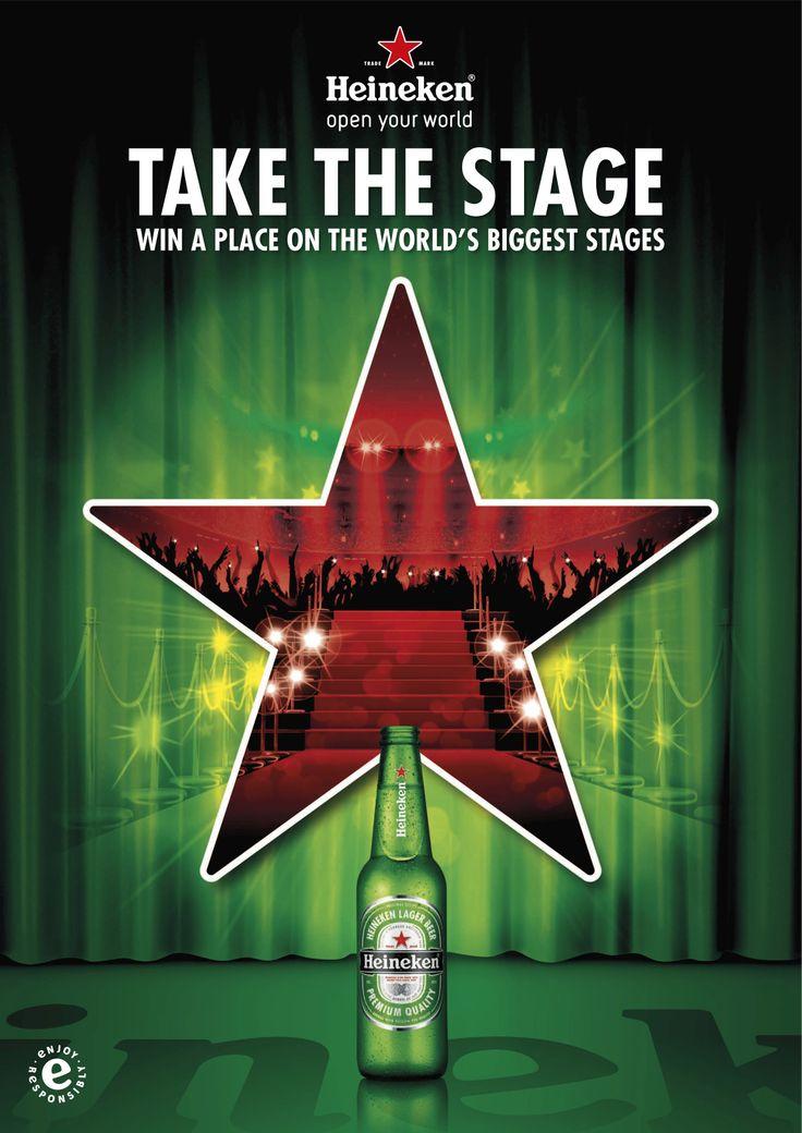Heineken 'Odyssey' Take the Stage' campaign VIS key visual http://www.wearebulletproof.com/our-work/heineken-odyssey/