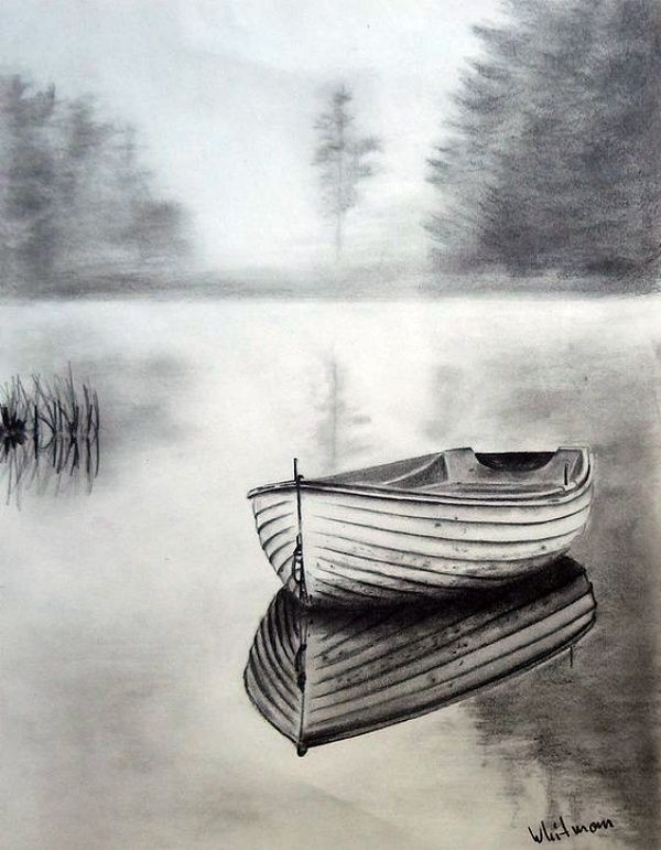 Giving Your Drawing A 3d Touch With Pencil Greenorc Landscape Pencil Drawings Pencil Sketches Landscape Landscape Sketch