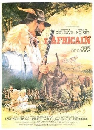 Affiche du film L'Africain de Philippe de Broca avec Philippe Noiret et Catherine Deneuve