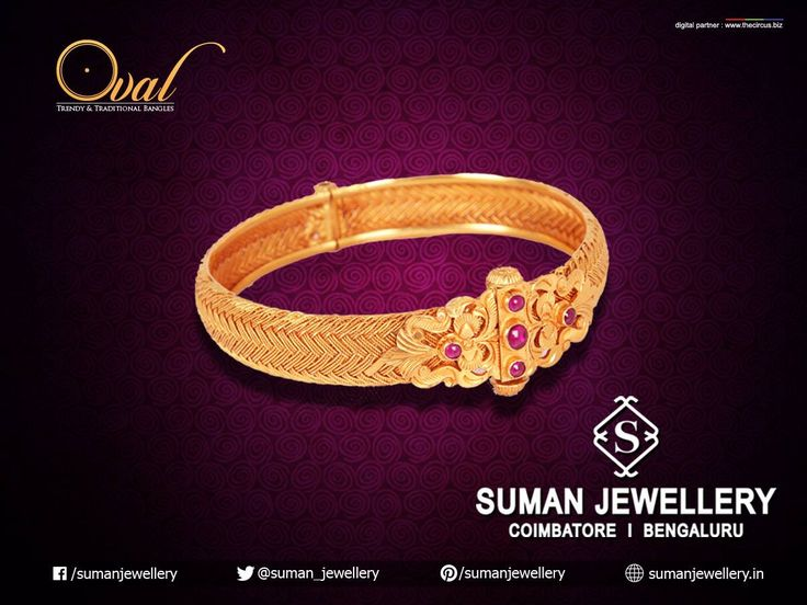 Trendy & Traditional bangle! Exhibiting perfection from every angle. #bangle #KADA #gold #oval #jewellery #beauty