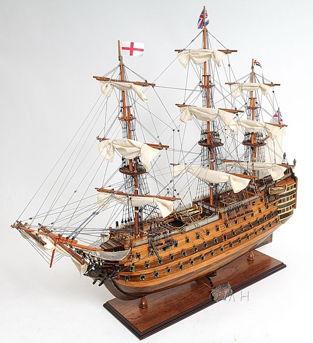 "CaptJimsCargo - HMS Victory Lord Nelson's Flagship Wooden Model 30"" Tall Ship Boat, (http://www.captjimscargo.com/model-tall-ships/warships/hms-victory-lord-nelsons-flagship-wooden-model-30-tall-ship-boat/) The model measures 30"" long from bow to stern. It's a fabulous boat model that will be a conversation piece for any room or office."