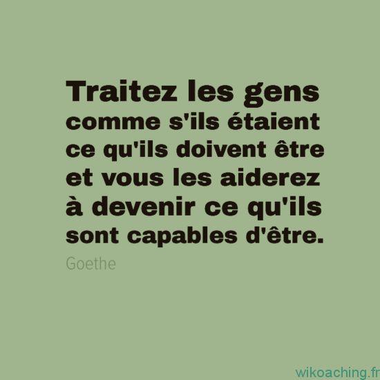 Citation de Goethe à méditer