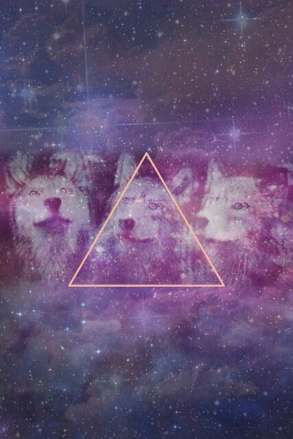 |Wallpaper| Hipster, Wolf (Lobo), Galaxy (Galaxia ... Hipster Triangle Galaxy Wallpaper