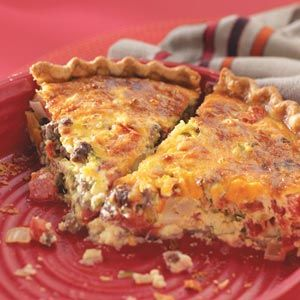 Roadside Diner Cheeseburger Quiche Recipe from Taste of Home -- shared by Barbara J. Miller of Oakdale, Minnesota