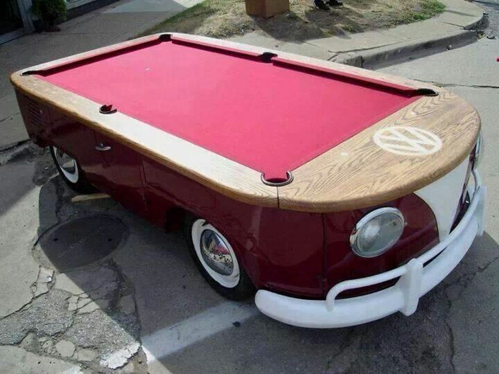 VW bus pool table..