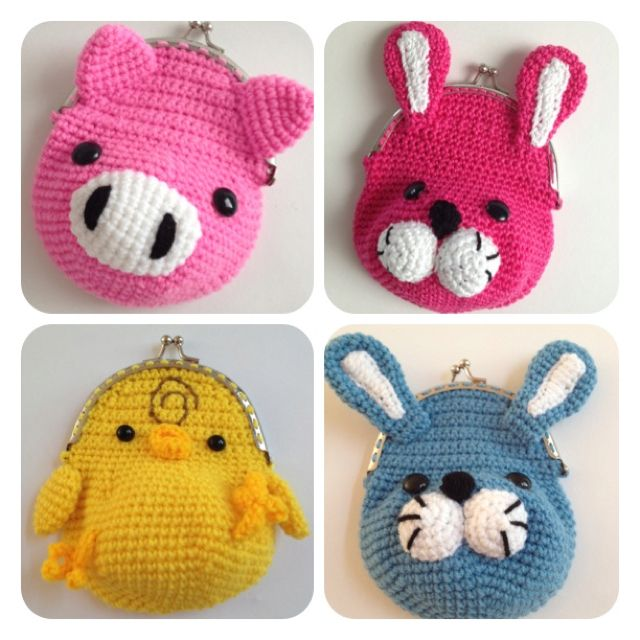 Crochet Animal Bag Free Pattern : 17 Best images about Crochet small bags, purses, and phone ...